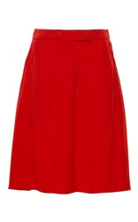 Alexis Mabille Red Pleated Moroccan Skirt