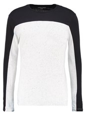 Your Turn Long Sleeved Top Off White Black Off White