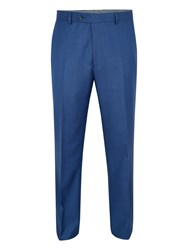 Paul Costelloe Men's Bromley Wool Birdseye Suit Trousers Blue