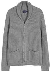 Polo Ralph Lauren Grey Chunky Knit Cashmere Cardigan
