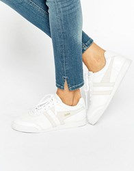 Gola Harrier Mono Trainers White Nude