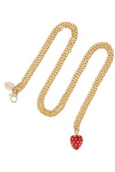 Red Valentino Gold Plated Necklace