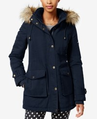 Rachel Roy Faux Fur Trim Hooded Parka Only At Macy's Navy