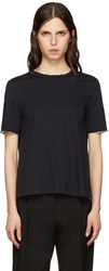 Marni Navy Tie Back T Shirt