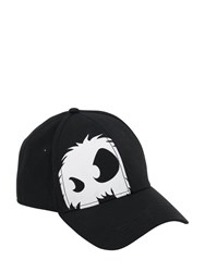 Mcq By Alexander Mcqueen Cotton Baseball Hat W Monster Print Black