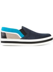 Sergio Rossi Panelled Slip On Sneakers