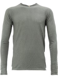 Label Under Construction Classic Fitted Top Grey