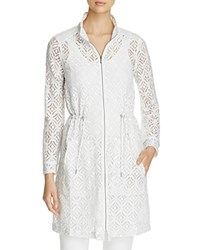 Nic Zoe And Lush Lace Trench White