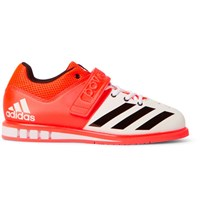 Adidas Sport Powerlift.3 Mesh Panelled Faux Leather Sneakers Papaya