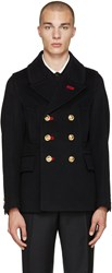 Burberry Navy Military Peacoat
