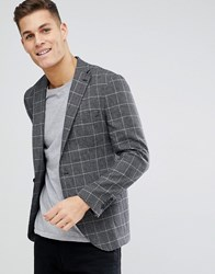 Selected Homme Slim Fit Checked Blazer Dark Navy