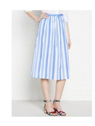 Paul By Paul Smith Blue And White Striped Cotton Skirt Blue White