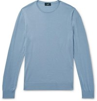 Dunhill Slim Fit Wool Sweater Blue