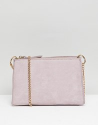Accessorize Milly Suedette Cross Body Bag With Gold Chain Beige