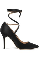 Vetements Manolo Blahnik Satin Pumps Black