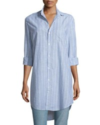Frank And Eileen Mary Striped Chambray Shirtdress Multi Stripe