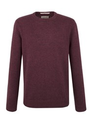 Racing Green Shelley Lambswool Blend Crew Neck Knit Red