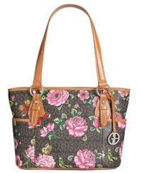 Giani Bernini Block Signature Medium Tote Created For Macy's Brown Rose