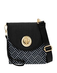 Baggallini Athens Crossbody Wallet Black White