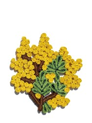 Seletti Florigraphie Straw Trivet Yellow