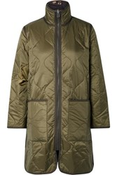 Madewell Reversible Quilted Ripstop And Shell Jacket Army Green