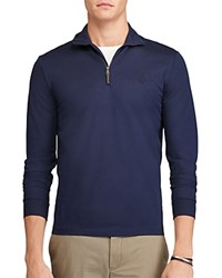 Polo Ralph Lauren Cotton Mesh Half Zip Pullover Shirt Cruise Navy