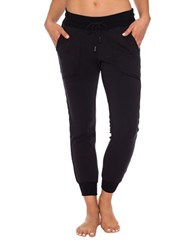 Betsey Johnson Side Sequined Fleece Skinny Sweatpants Black