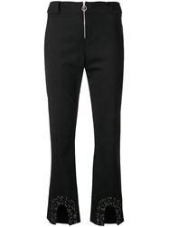 Paco Rabanne Cropped Trousers Black