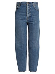Vetements X Levi's High Rise Cropped Jeans Blue