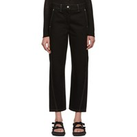 Christophe Lemaire Black Twisted Jeans