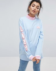 Lazy Oaf Letters Long Sleeve T Shirt Blue