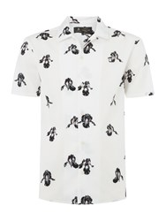 Label Lab Leo Orchid Floral Shirt Off White