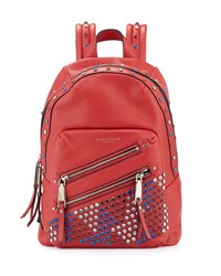 Pretty Young Thing Studded Leather Backpack Brilliant Red Marc Jacobs