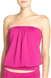 Tommy Bahama Women's Bandini Blouson Tankini Top Wild Orchid Pink