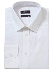 John Lewis Easy Care Poplin Long Sleeve Shirt White