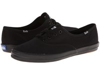Keds Champion Canvas Cvo Full Black Women's Lace Up Casual Shoes