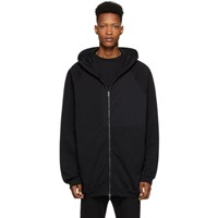 Haider Ackermann Black Patched Hoodie