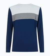Homebody Colour Block Lounge Top Navy