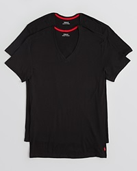 Ralph Lauren Supreme Comfort V Neck Tee Pack Of 2 Black