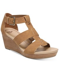 Dr. Scholl's Barton Wedge Sandals Women's Shoes Saddle Snake Print
