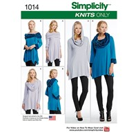 Simplicity Misses' Knit Tunics Sewing Pattern 1014