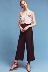 Anthropologie Deni Cropped Wide Legs Black