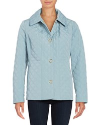 Anne Klein Long Sleeve Quilted Jacket Slate