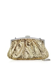 Julia Cocco' Micro Sequins Clutch W Chain Strap Gold