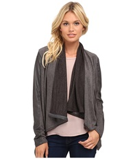 Blank Nyc Drape Jacket French Grey Women's Coat Black