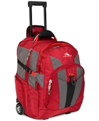 High Sierra Xbt Rolling Laptop Backpack In Red Multi
