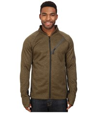 686 Glcr Rouge Zip Tech Fleece Olive Heather Men's Fleece