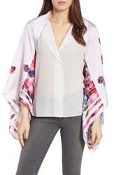 Ted Baker Women's London Ellila Expressive Pansy Floral Cape Scarf