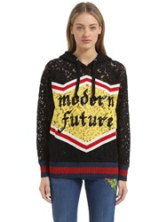 Gucci Sequin Cotton Blend Lace Sweatshirt