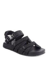 Versace Strappy Velcro Sandals Black